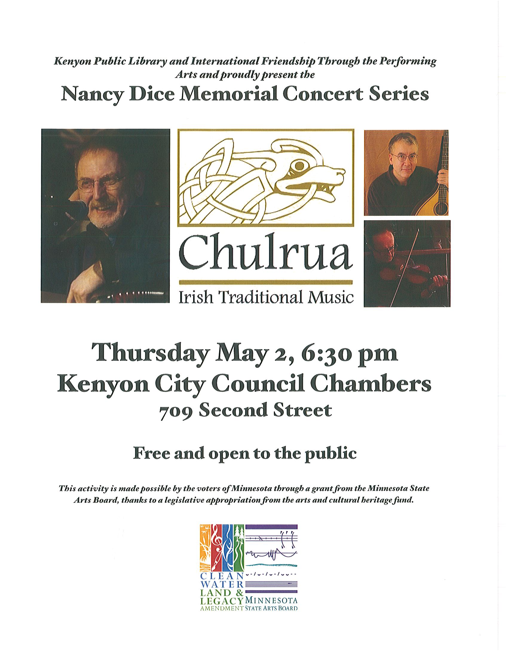 Chulrua May 2 at 6:30 pm Council Chambers