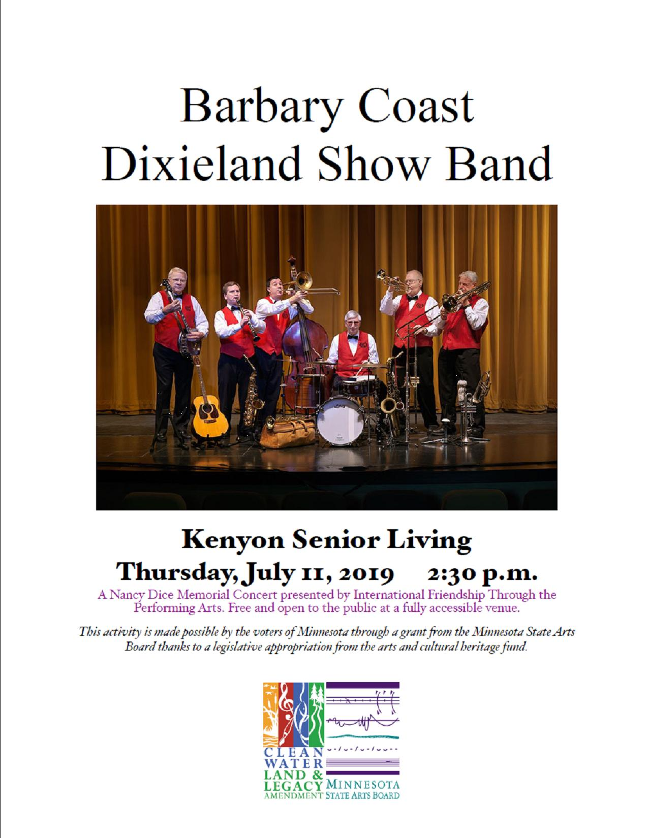 Barbary Coast Dixieland Show Band July 11 @ 2:30 pm