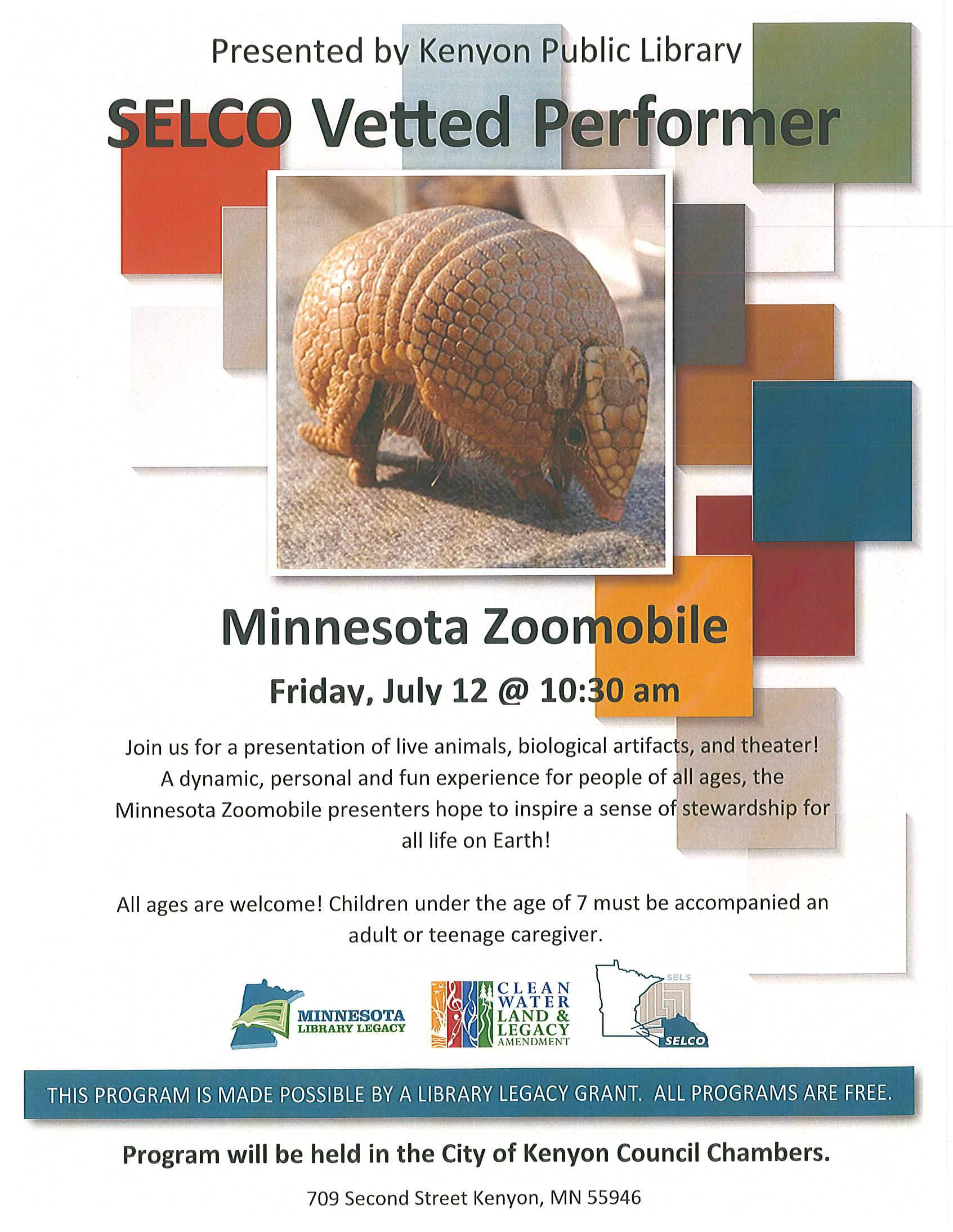 Minnesota Zoomobile July 12 @ 10:30 am