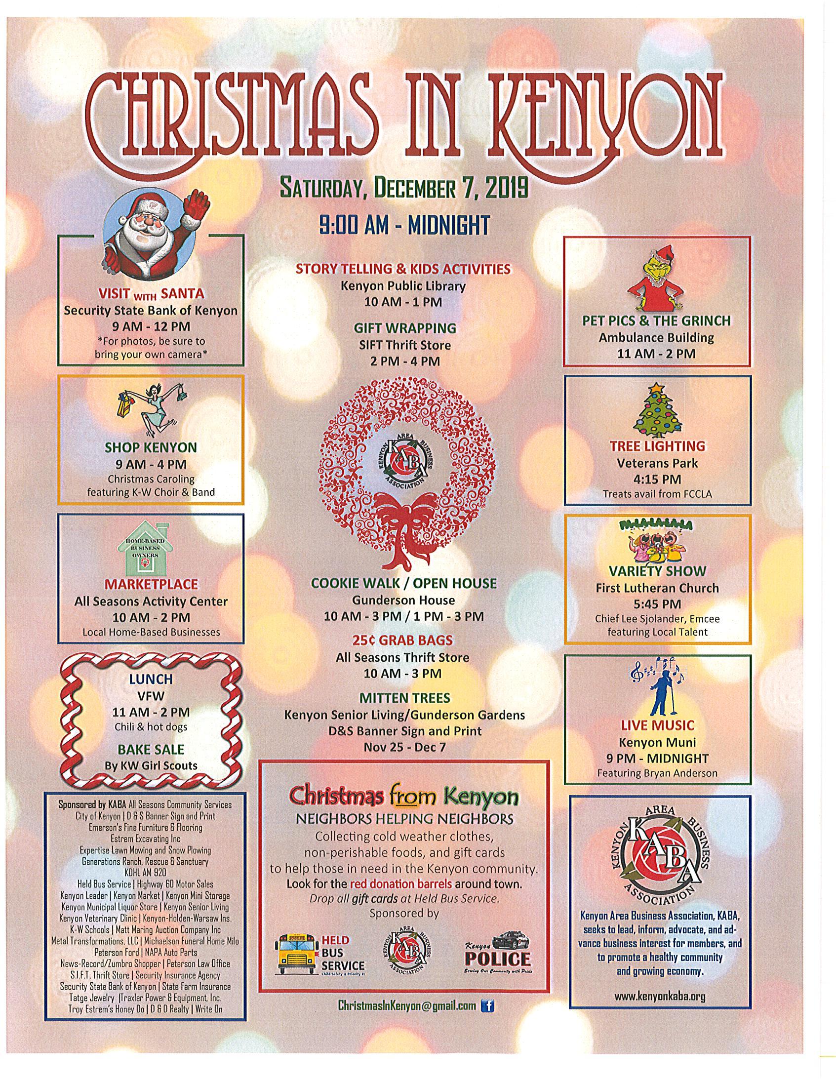 Christmas in Kenyon